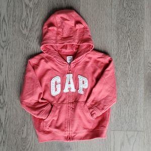 baby GAP coral hoodie